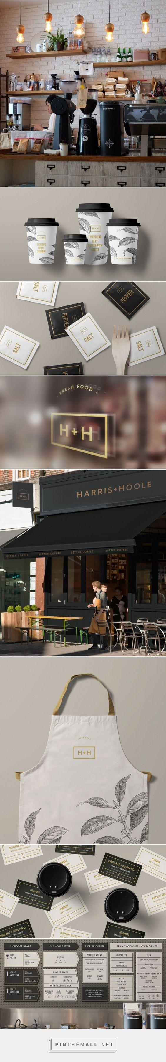 Harris + Hoole packaging and branding by Confederation Studio curated by Packaging Diva PD. Owned by Tesco, a chain of artisan coffee shops located around London and the South East.