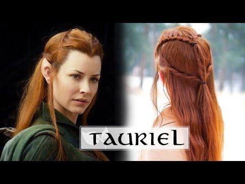 Das Hobbit Hair Tutorial Tauriel Youtube Frisuren Ideen Elf Hair Hair Tutorial Elven Hairstyles