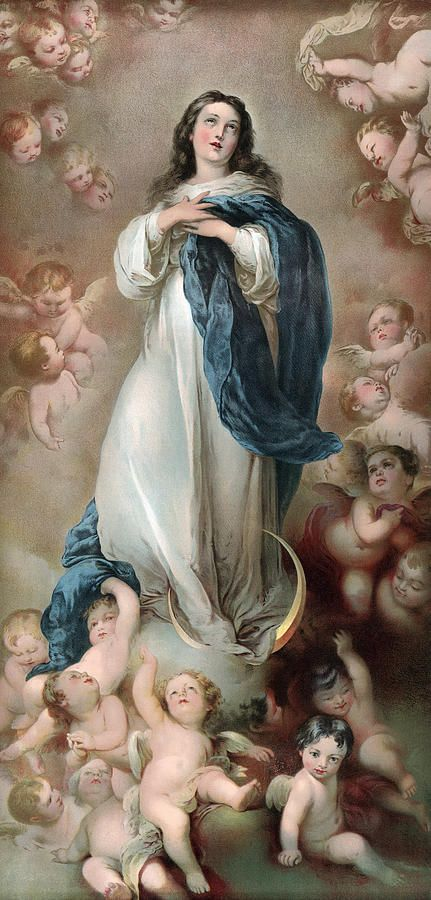 The Immaculate Conception, Depicting Canvas Print / Canvas Art by Everett: