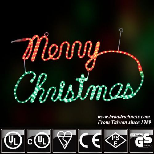 2d Incandescent Rope Light Merry Christmas Sign Christmas Rope Lights Christmas Light Displays Diy Christmas Lights