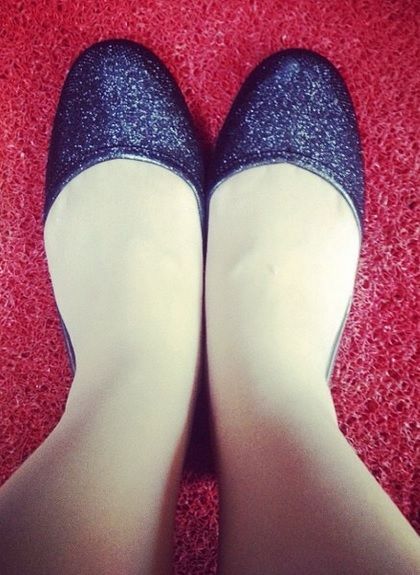 Glittering black flats by Jelly Bunny~  #beccajang