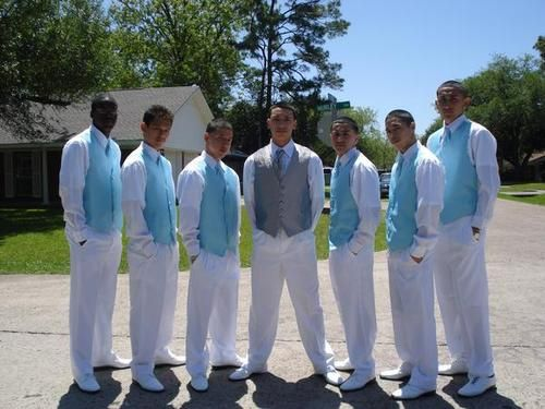 FuZion Chambelanes - juan1232 Quinceanera Chambelanes Tuxedos With Blue