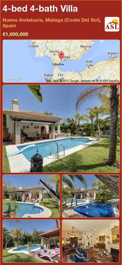 4-bed 4-bath Villa in Nueva Andalucia, Malaga (Costa Del Sol), Spain ►€1,000,000 #PropertyForSaleInSpain