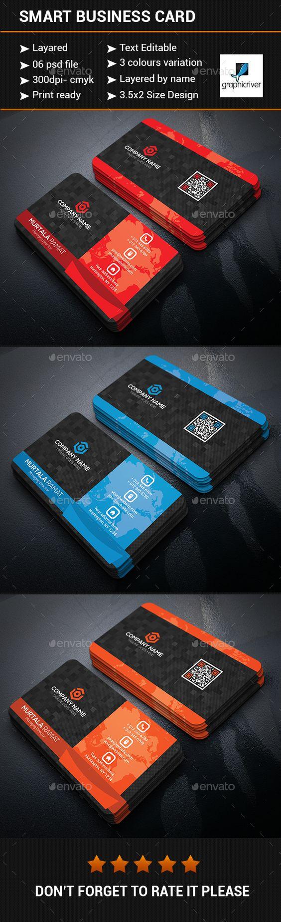 Smart Business Card Design - Business Cards Print Templates
