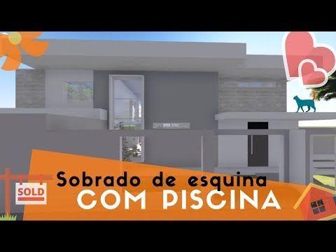 Projeto 3d Sobrado De Esquina Youtube Projetos De Sobrados