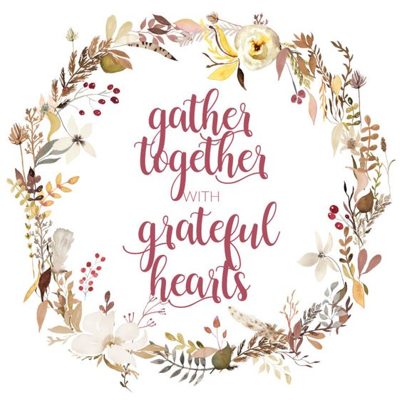Gather Together with Grateful Hearts Free Fall Printable | inbetweenchaos.com