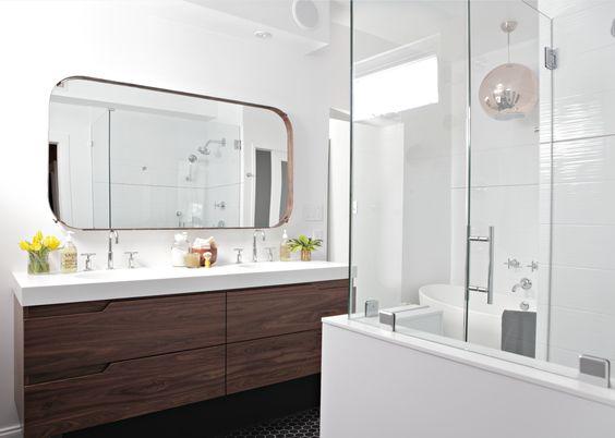 Bathroom Design Richmond Va reclaimed walnut vanity and custom iron mirror. designedlia