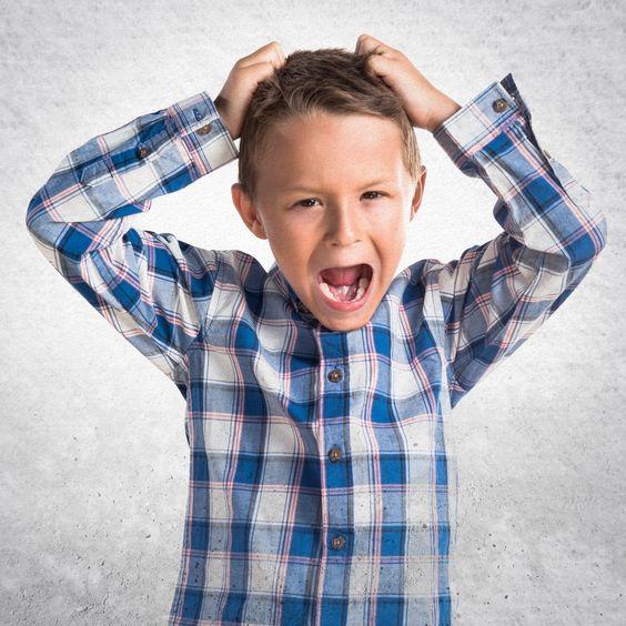 Crianças estressadas