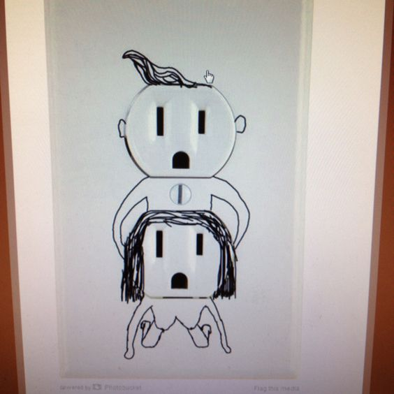 Love his midget electrical two prong plug