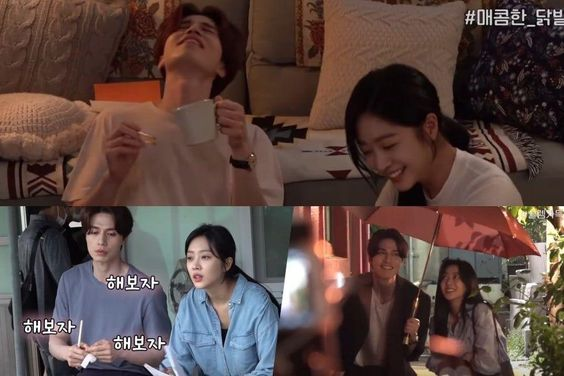 "Watch: Lee Dong Wook And Jo Bo Ah Are Playful While Filming Romantic Scenes In ""Tale Of The Nine-Tailed"""