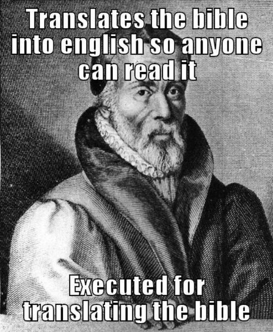 William Tyndale https://en.wikipedia.org/wiki/William_Tyndale