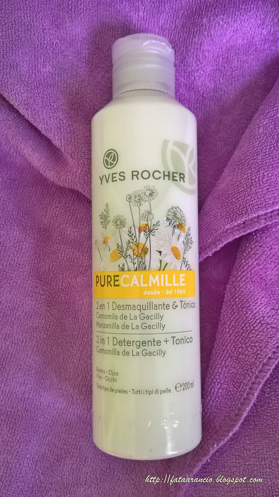 Yves Rocher-Pure Calmille 2 in 1 Detergente+Tonico review fataarancio