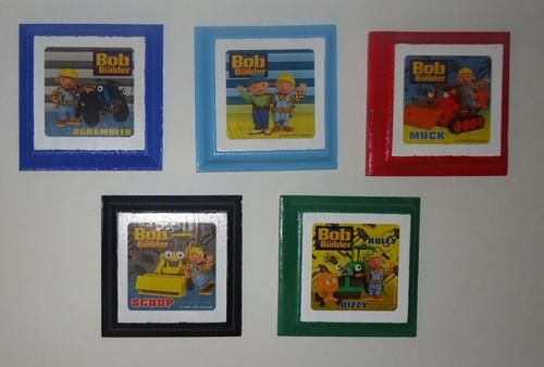 Bob the builder kids wall plaques set of 5 childrens for Bob the builder wall mural