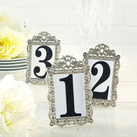 Table Numbers For Wedding Table Numbers And Numbers On Pinterest
