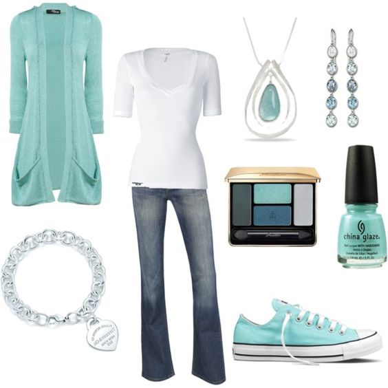 Love the color!: Favorite Color, Color Perfect, Cardigan Earrings, Blue Casual, My Style