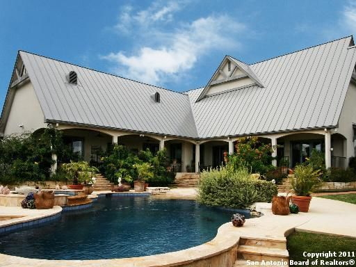 Country Pool Texas Hill Country Rustic Backyard Pool Side