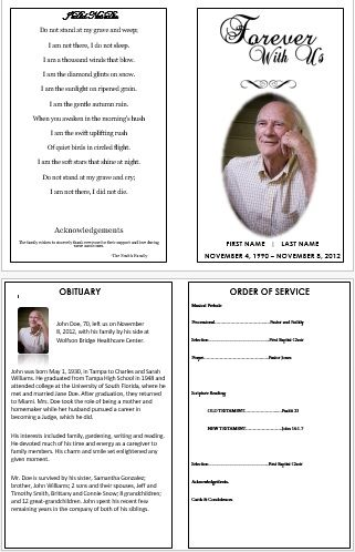How To Create A Memorial Invitation For Your Father S Funeral Funeral Program Template Funeral Program Template Free Funeral Programs