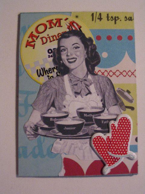 Mom's Diner ATC by CupcakeDD, via Flickr