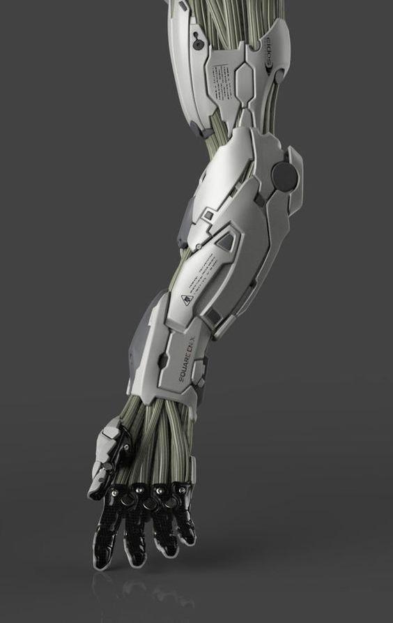 Random Ghost â?? Mechanical Arm (crop) by Frederic Daoust