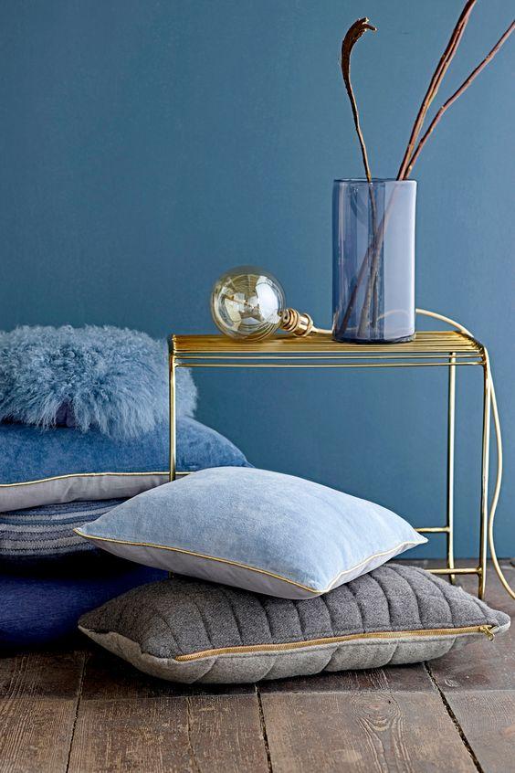 blauwe interieurs