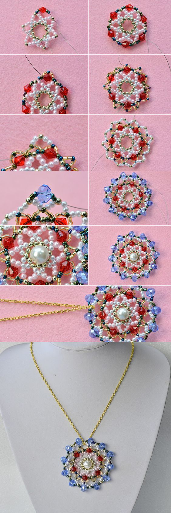 Look at this beaded pendant necklace, like it? LC.Pandahall.com will release the tutorial soon, pay more attention~:
