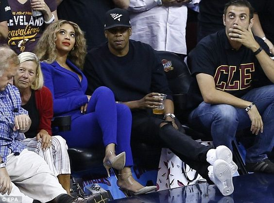 Why so blue? Their four-year-old daughter Blue Ivy was not in attendance...