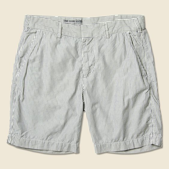 Railroad Stripe Bermuda Short - Platinum