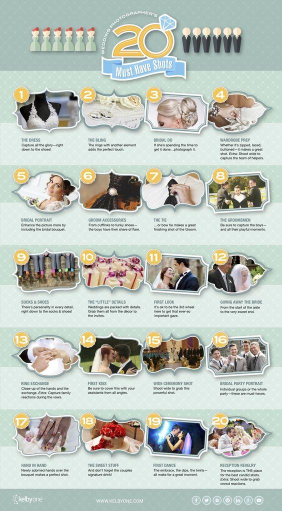 20 Must-have Wedding Shots