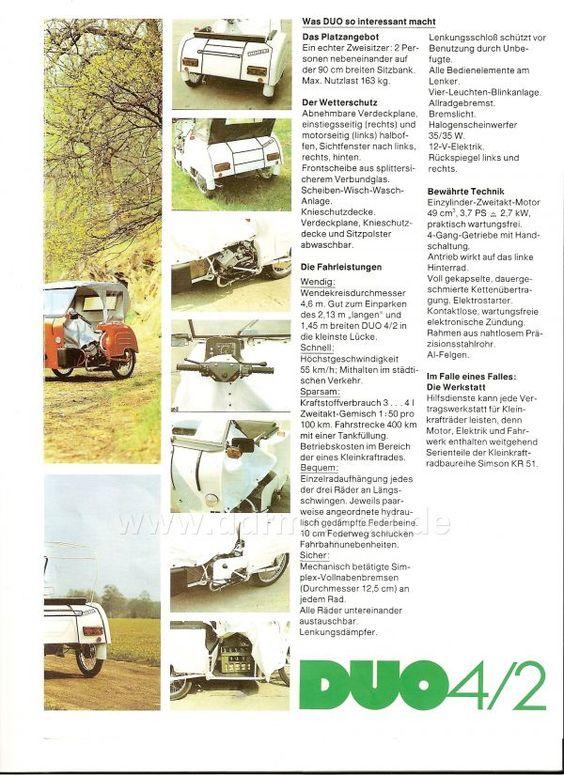 Kranken-Fahrstuhl Simson Duo, DDR (East Germany). Bild 2, beide Bilder zusammen ergeben eine Seite.