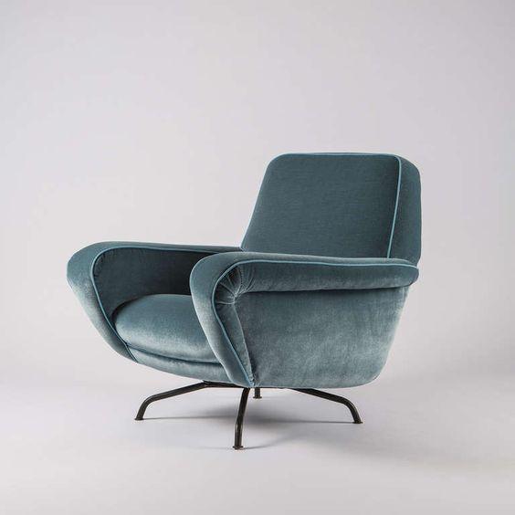 Gianfranco Frattini; #830 Swivel Armchair for Cassina, c1955.