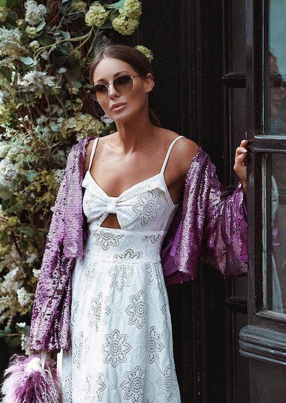 White Summer Dress | Louise Thompson | Style Inspiration | SS18 | AETERNASTYLE.COM