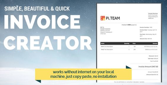 Free and simple online invoice generator and Invoice creator for - online invoice maker