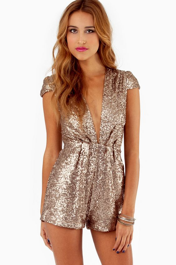 Gold Sequined Jumpsuit