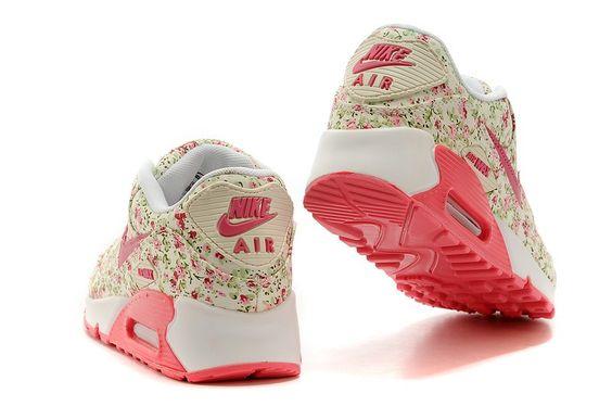 nike air max bleu marine - Femme Nike Air Max 90 Fleur Rouge | Nike | Pinterest | Nike Air ...