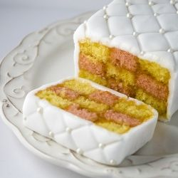 I love many Victorian things and Battenberg Cake is one of them! (In Spanish, Translator on sidebar)