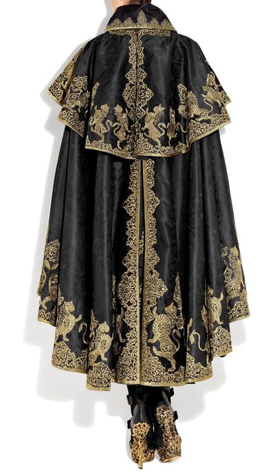 The Inspiring Embroidery of Alexander McQueen « StitchPunk  I'm just looking at the cloak here I'm also noticing the shoes that have the same pattern! And I love that!