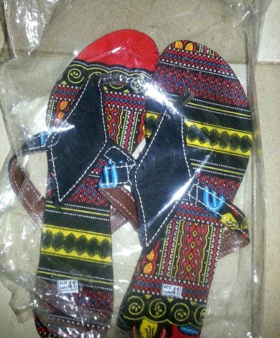 Ladies African Designed Flip Flops