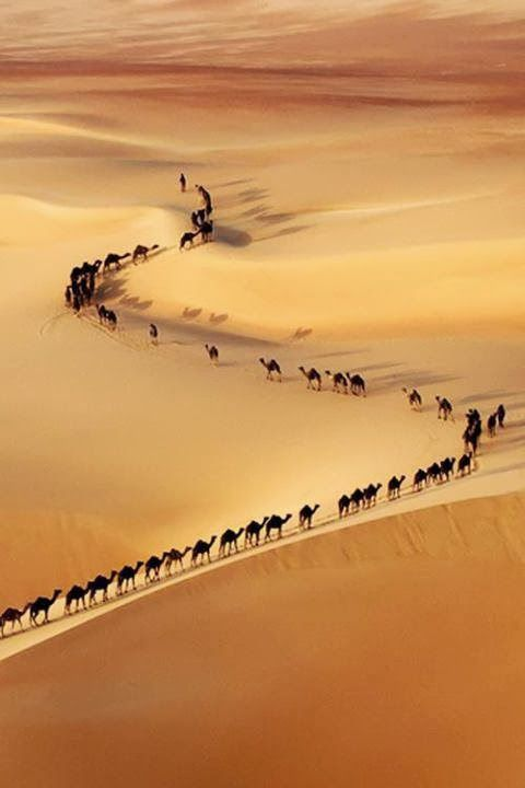 Караван в пустыне Руб-эль-Хали