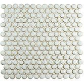 "Found it at Wayfair - Penny 0.8"" x 0.8"" Porcelain Mosaic Tile in Silk White"