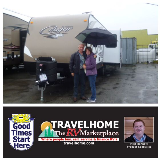 Congratulations to Marnie & Kevin on the purchase of their Cougar 28RL #traveltrailer from Mike! #cougarrv #rving #Travel #camping