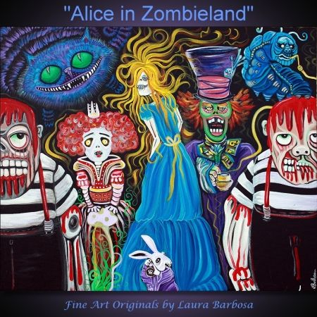 "Laura Barbosa's ""Alice in Zombieland"" check out more of her amazing work at laurabarbosa.wordpress.com  Amazing stuff!"