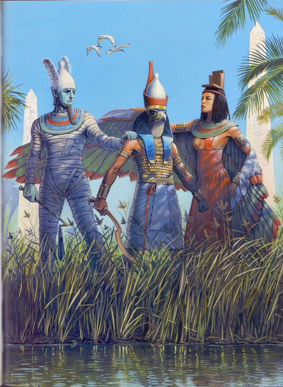 Horus, the son of Osiris and Isis, was the god of the more fertile and hospitable half of the country, Lower Egypt, which included the lush Nile Delta.