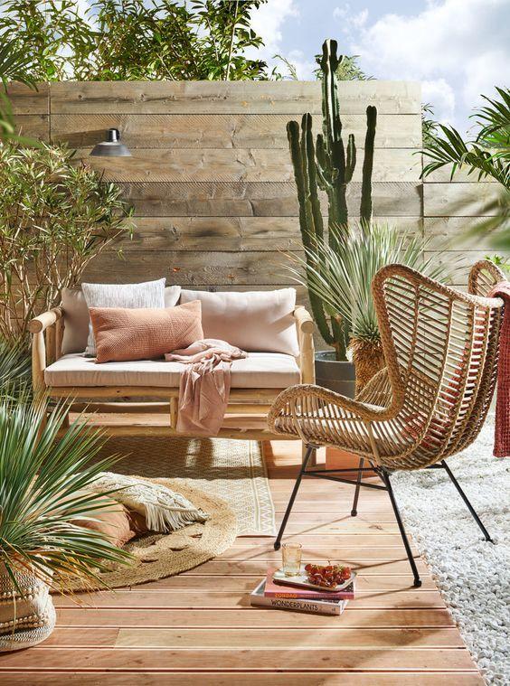 Un Super Salon De Jardin Ethnique Amenager Salon De Jardin Decoration De Terrasse Exterieure Meuble Jardin