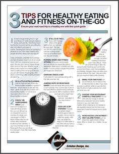 eGuide: 3 Tips for Healthy Eating and Fitness On-The-Go