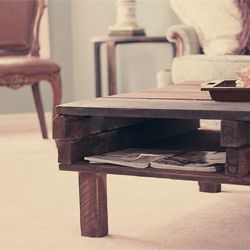 DIY Rustic Pallet Coffee Table - On Corey's list of to do's