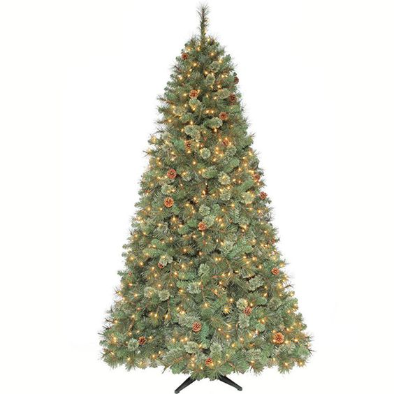 String Lights Christmas Tree Martha Stewart : Martha Stewart Living 7.5 ft. Pre-lit Sparkling Pine Artificial Christmas Tree with Clear ...