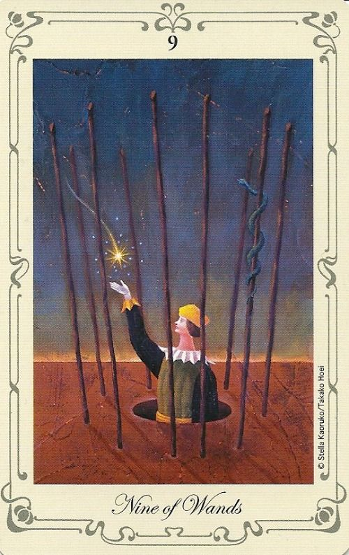 9 of Wands - Stella's Tarot by Stella Kaoruko & Takako Hoei