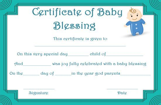 Free Printable Baby Blessing Certificate Templates With Images