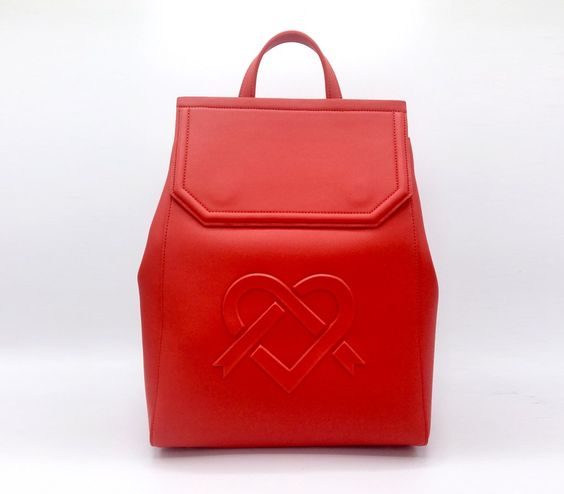 LIVIA - Gunas New York RED VEGAN BOOKBAG