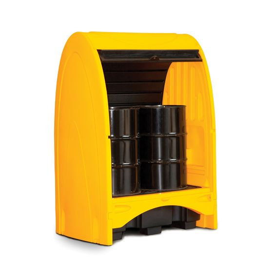 Hardtop Outdoor Drum Storage Unit 2 – Drum